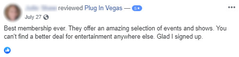 Las Vegas local customer review