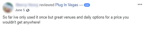 facebook review of plug in vegas