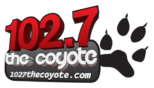 102.7 the coyote logo